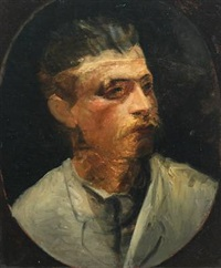 portait of georg brandes by wenzel ulrik tornoe