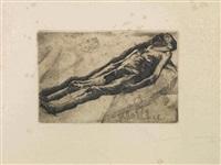 cadavere d'uomo (l'annegato) by umberto boccioni