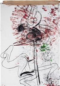 bone drawing 1 by paul mccarthy