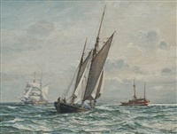 frederikshavn cutter with the fire ship skagens rev by arne skottenborg frederiksen