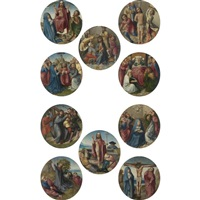 scenes from the life of christ and the life of the virgin (10 works) by colijn de coter