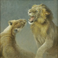 lions mating by robert mclellan bateman