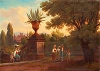 vue från villa conti vid rom by gustaf wilhelm palm