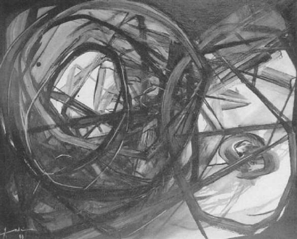 abstraction lyrique by (ala el dine abdellagh) aldine