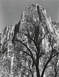 sentiniel rock, yosemite, 1949 by ansel adams
