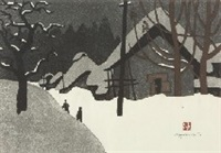 winter in aizu (9) hinohara by kiyoshi saito