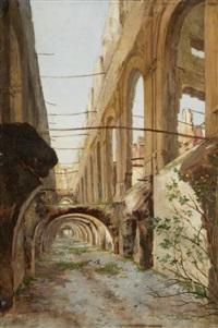 les ruines de la cour des comptes by auguste aristide fernand constantin