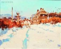 braughing village, winter '85 by john haskins