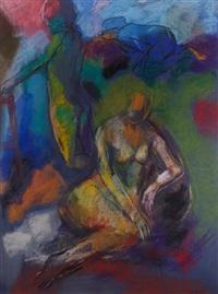 les dames du temps présent (triptych) by denis rival