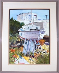 docked boat by steven hill