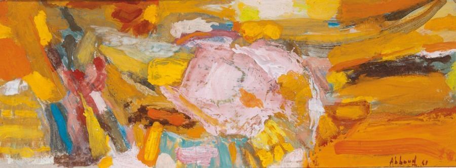 composition jaune et orange by shafic abboud