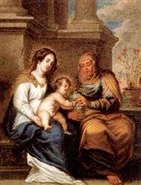 st.anne, the madonna and the christ child by cornelis de baellieur the younger