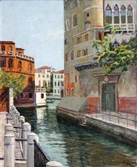 vieux palais sur le canal à venise by charles ceboul