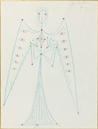 l'ange aux ailes ocellees by jean cocteau