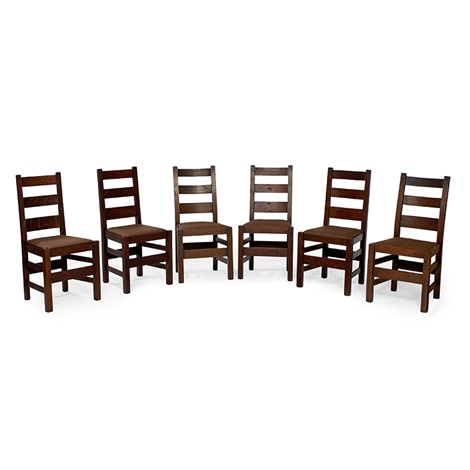 Dining Chairs, Variation Of #381, Assembled Set Of Six By Stickley Brothers  Company