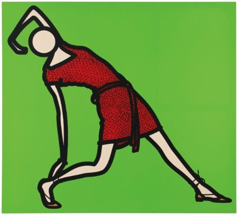 caterina dancing in red dress 3 by julian opie