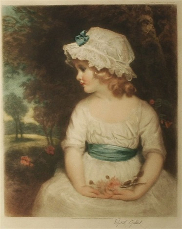 young girl with a white summer dress simplicity by elizabeth gulland