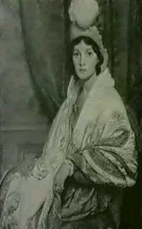 portrait of mrs. charles knight by louis ginnett