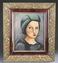 untitled portrait by moïse kisling