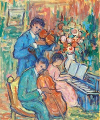 le trio musicien by nathan gutman
