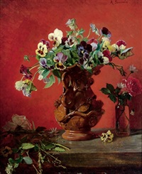 stiefmütterchen in vase by a. simonin