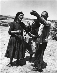 spanish village, argument of peasants by w. eugene smith