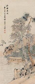 水榭清风图 by ren bonian