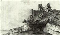 a folio of watercolours of cornwall,       northamptonshire, oxfordshire, hertfordshire... by francis (capt.) grosse