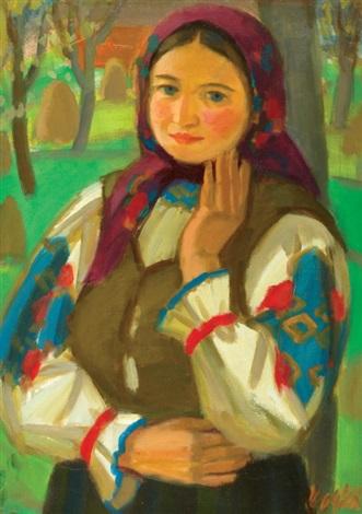 young woman by andrej andrejovic kocka