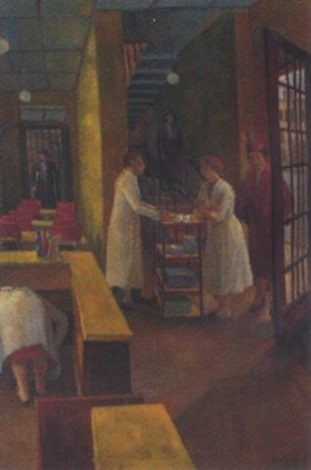 bustling cafe scene by g p eagleton
