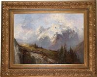 der ortler und die könisgspitze gesehen von den alpen ... der malserhayde, tyrol by adolf obermüllner