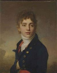 portrait de jeune homme en buste by henri-pierre danloux
