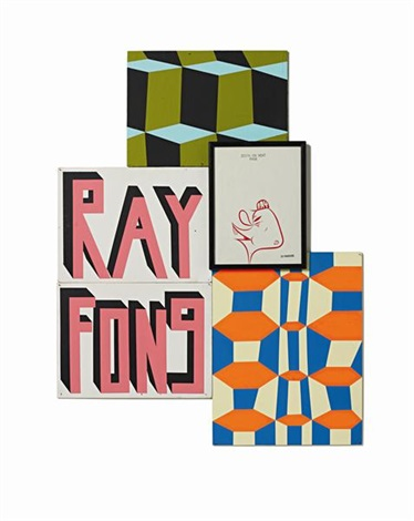 untitled ray fong group in 4 parts by barry mcghee