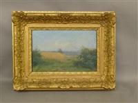 champs de blé à villerest by louis noirot