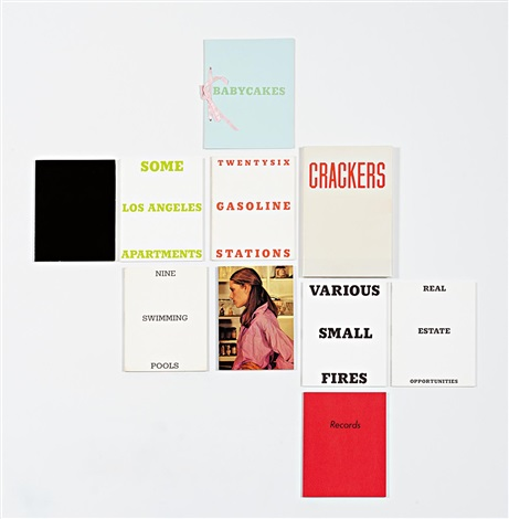a group of ten artist's books (10 works) by ed ruscha