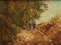 chariot dans le chemin creux by alfred théodore joseph bastien