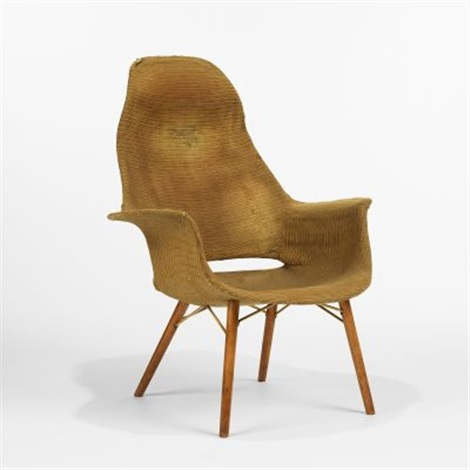 high back armchair from the museum of modern art organic design competition by eero saarinen and