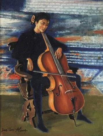 le violoncelliste by jean pierre alaux