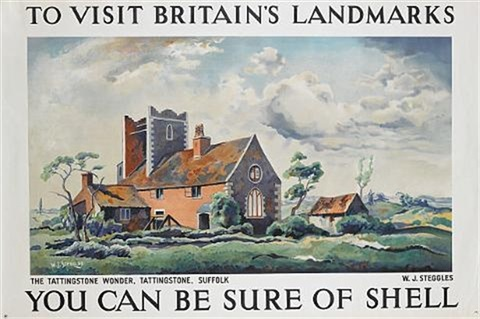to visit britains landmarks the tattingstone wonder suffolk you can be sure of shell poster by wj steggles by posters advertising shell oil