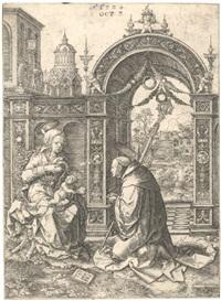 die vision des heiligen bernhard by dirk jacobsz vellert