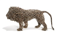 haystack lion (curly tail) by john mcqueen