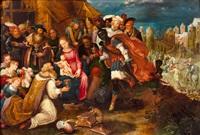 la adoración de los reyes magos by gaspar van der hoeck