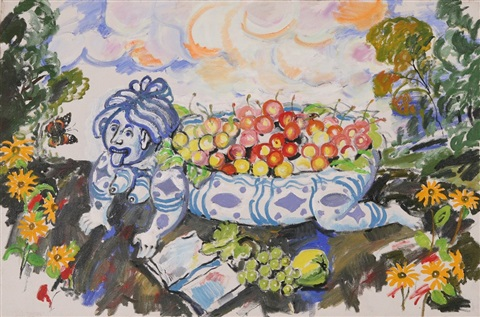 still life with fruits by vladimir i nekrasov