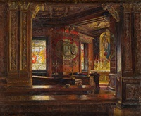 blick in die schlosskapelle von st. emmeram in regensburg by olga wisinger-florian