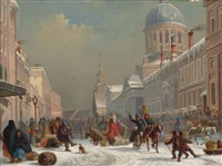 bonsecours market, montreal by william raphael