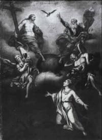 la trinita con la vergine by domenico corvi