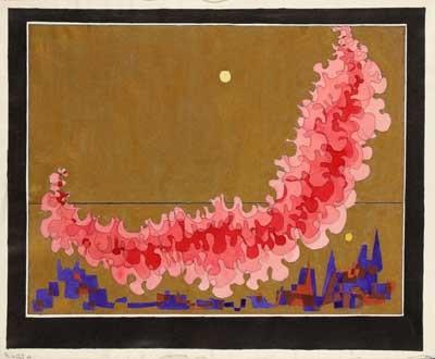 rote wolken über einer stadt by thilo maatsch