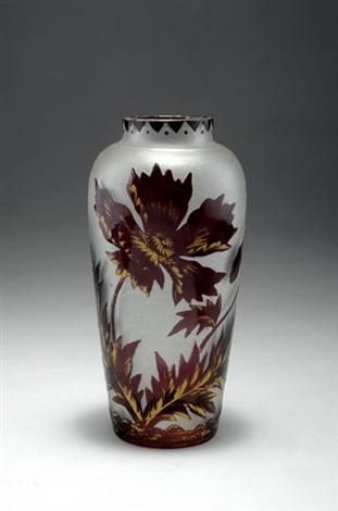 vase by gräfliche harrachsche glasfabrik co