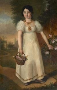 portrait présumé de la jeune comtesse wanda pototsky by eastern european school (19)