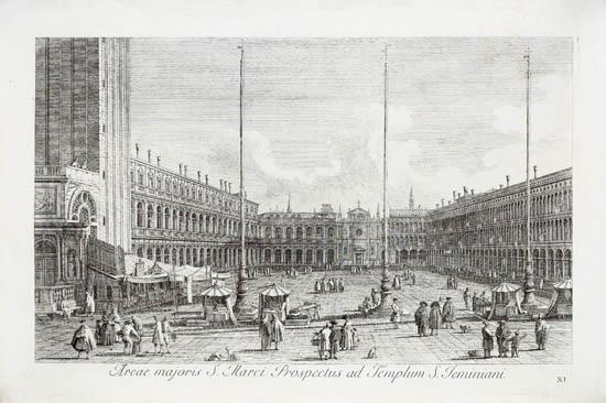 areae majoris s marci prospectus ad templum s jeminiani from urbis venetarium prospectus after canaletto by antonio visentini